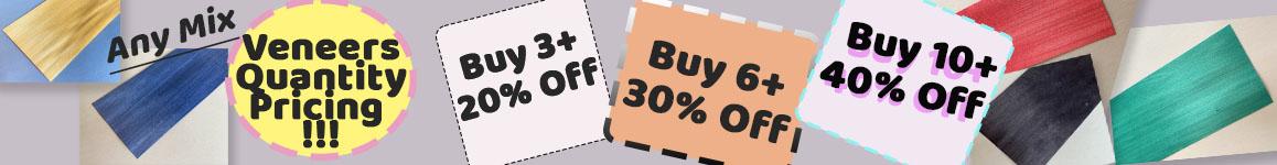 Veneers - Buy any 3 get 20% off, Buy and 6 get 30% off, Buy and 10 get 40% off