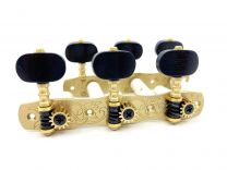 Gotoh 35G1800-EN Classical Guitar Tuners with Ebony Buttons