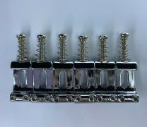 52.5mm Spacing Pressed Steel Replacement Saddles - Set of 6 - Chrome