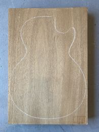 African Mahogany Electric Guitar Body Blank #216 - 1-Piece - 1st Grade