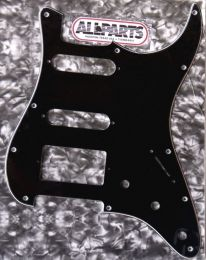 Allparts PG-0995-033 Strat Style H-S-S Pickguard - Black (B/W/B)