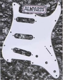 Allparts PG-0552-035 Strat Style Pickguard - White (W/B/W)