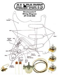 Allparts EP-4120-000 Wiring Kit for Stratocaster