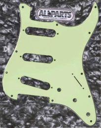 Allparts PG-0552-024 Strat Style Pickguard - Mint Green (M/B/M)