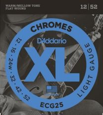 D'Addario ECG25 Electric/Jazz Guitar Strings 12-52 Flat Wound