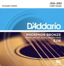 D'Addario EJ16 Acoustic Guitar Strings 12-53 Light