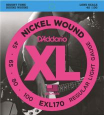 D'Addario EXL170 Long Scale Bass Guitar Strings 45-100 Light