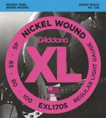 D'Addario EXL170S Short Scale Bass Guitar Strings 45-100 Light