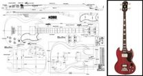 Gibson EB-3 SG Bass Plan