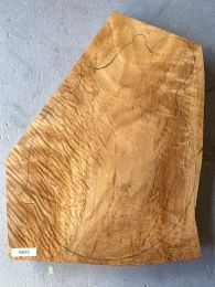 Figured Queensland Maple Mandolin Back #M05 - First Grade - Extra Thick