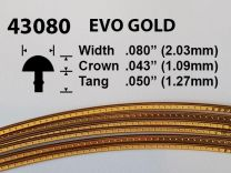 Evo Gold Fretwire #43080 - Narrow Medium Gauge - 1.8 metres