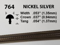 Nickel Silver Fretwire #764 - Small Narrow Gauge - 1.8 metres