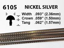 Jim Dunlop Nickel Silver Fretwire #6105 - Medium Extra Tall Gauge - 1.8 metres