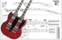 Gibson EDS Double-Neck SG Electric Guitar Plan