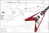 Gibson Flying V '67 Electric Guitar Plan