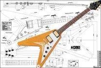 Gibson Flying V Korina Electric Guitar Plan