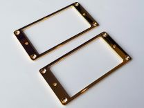 Flat Metal Mounting Rings - Set of 2 - Gold