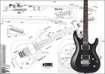 Ibanez Satriani Model Electric Guitar Plan