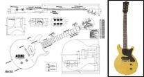 Les Paul Junior Double-Cutaway Electric Guitar Plan