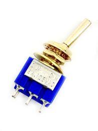 Mini 2-Way Toggle Switch - Gold