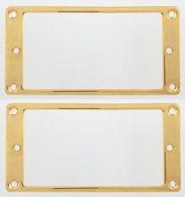 Allparts PC-0741-002 Flat Metal Mounting Rings - Set of 2 - Gold