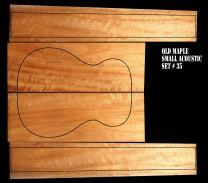 Queensland Maple Back & Sides Set #35 - OM/Classical Size - Highly Figured 1st Grade