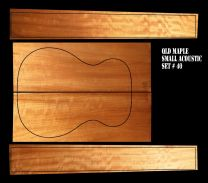 Queensland Maple Back & Sides Set #40 - OM/Classical Size - Highly Figured 1st Grade
