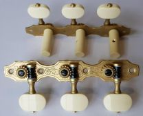 Rubner 9140-EBI Deluxe Classical Guitar Tuners with Ivoroid Buttons