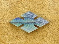 Slotted Diamond Inlay - Paua Abalone