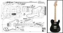 Telecaster-Style Deluxe Model Electric Guitar Plan