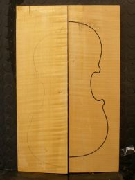 German Maple Violin/Viola/Mandolin Back #10 - AAAA Grade