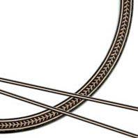 3-Piece Medium Herringbone Acoustic Guitar Rosette