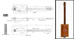4-String Acoustic Cigar Box Guitar Plan