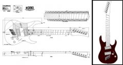 7-String Multiscale Electric Guitar Plan