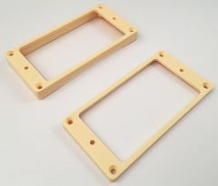 Mounting Rings - Flat Slanted Bottom - Set of 2 - Cream