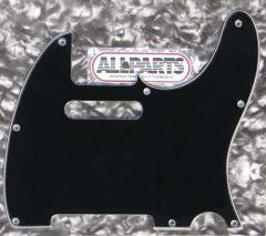 Allparts PG-0562-033 Tele Style Pickguard - Black (B/W/B)