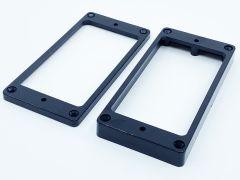 Allparts PC-0745-023 Mounting Rings - Flat Non-Slanted Bottom - Set of 2 - Black