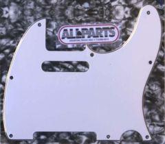 Allparts PG-0562-035 Tele Style Pickguard - White (W/B/W)