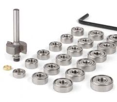 Binding Router Bit - Complete Set with 19 Ball Bearings