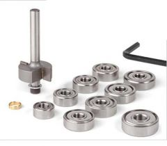 Binding Router Bit - Set with 9 Ball Bearings