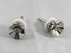 Endpins - Set of 2 with Felt Washers & Screws - Chrome