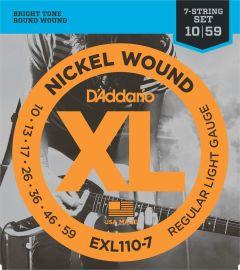 D'Addario EXL110-7 Electric Guitar Strings 10-59 Regular light 7-String Set