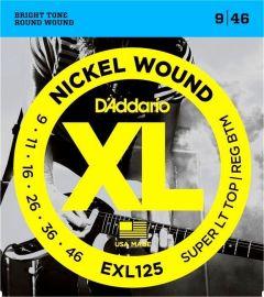 D'Addario EXL125 Electric Guitar Strings 9-46 Super Light Top/Regular Bottom