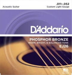 D'Addario EJ26 Acoustic Guitar Strings 11-52 Custom Light