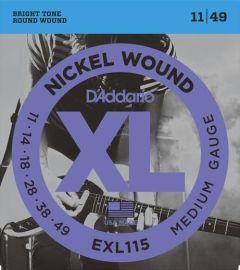 D'Addario EXL115 Electric Guitar Strings 11-49 Medium