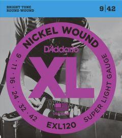 D'Addario EXL120 Electric Guitar Strings 9-42 Super Light
