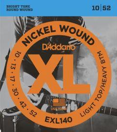 D'Addario EXL140 Electric Guitar Strings 10-52 Light Top/Heavy Bottom
