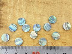 Dot Inlays - Set of 12 - Paua Abalone 8mm