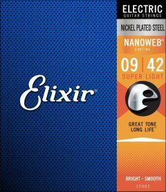 Elixir 12002 Coated Electric Guitar Strings 9-42 Super Light