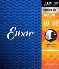 Elixir 12077 Coated Electric Guitar Strings 10-52 Light-Heavy